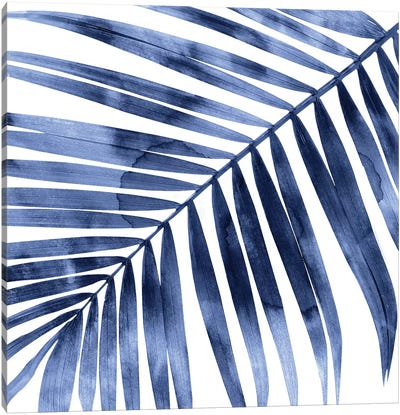 Indigo Palm, Close-Up I Canvas Art Print