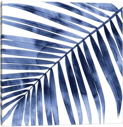 Indigo Palm, Close-Up I Canvas Art Print