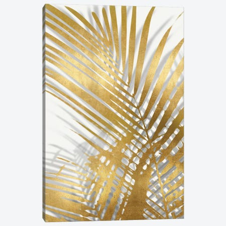 Palm Shadows Gold I Canvas Print #MMR63} by Melonie Miller Canvas Art Print