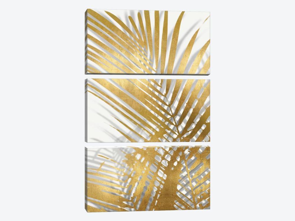 Palm Shadows Gold I by Melonie Miller 3-piece Canvas Print