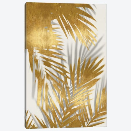 Palm Shadows Gold II Canvas Print #MMR64} by Melonie Miller Canvas Art