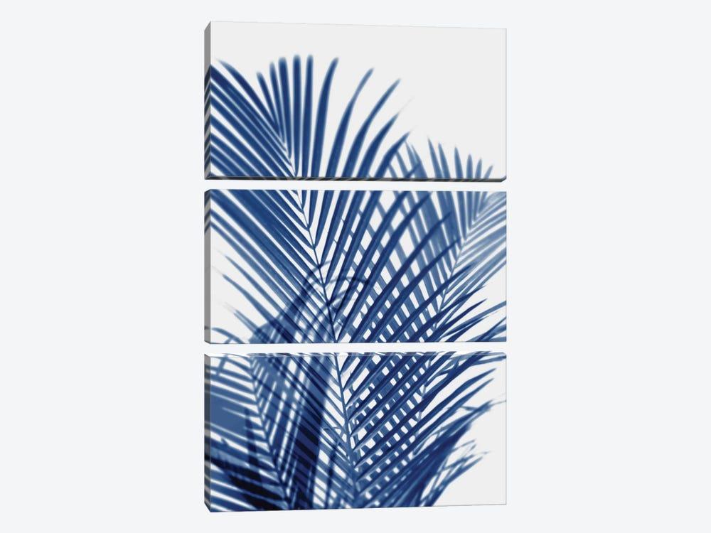 Palm Shadows Indigo I by Melonie Miller 3-piece Art Print