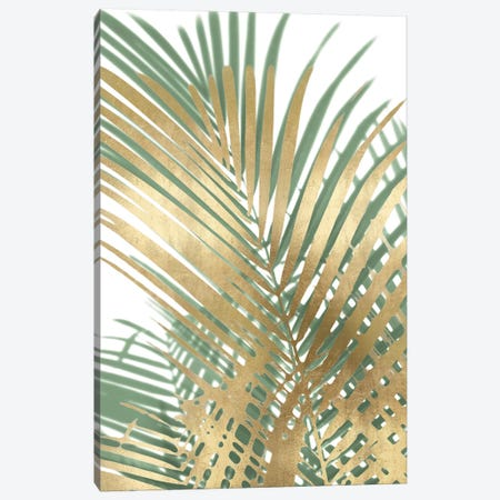 Palm Shadows Gold on Green I Canvas Print #MMR66} by Melonie Miller Canvas Art