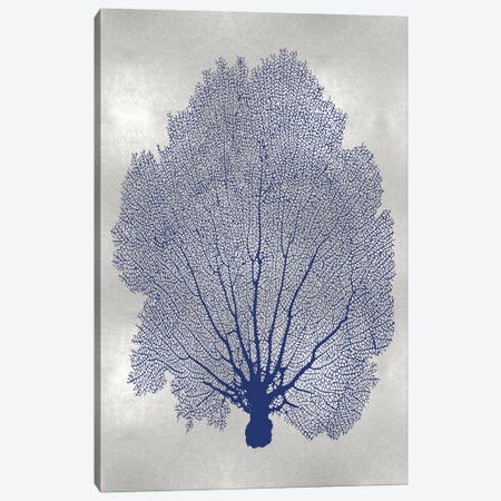 Sea Fan Indigo Blue II Canvas Print #MMR73} by Melonie Miller Canvas Wall Art