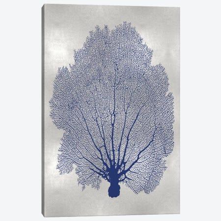 Sea Fan Indigo Blue II Canvas Print #MMR73} by Melonie Miller Canvas Wall Art