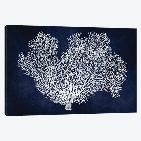 Sea Fan on Indigo Blue I Canvas Print #MMR74} by Melonie Miller Canvas Art Print