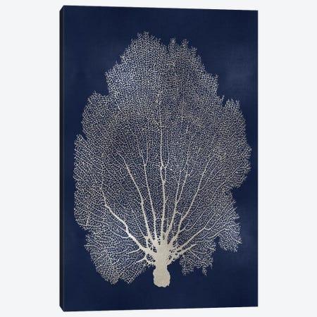 Sea Fan Silver on Blue II Canvas Print #MMR77} by Melonie Miller Art Print