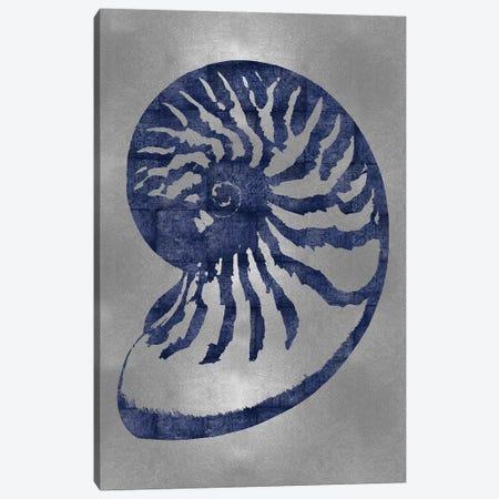 Blue On Silver III Canvas Print #MMR7} by Melonie Miller Canvas Art Print
