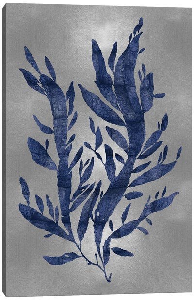 Blue On Silver IV Canvas Art Print