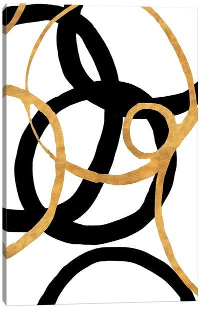 Black and Gold Stroke II Canvas Art Print