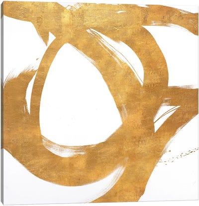Gold Circular Strokes I Canvas Art Print