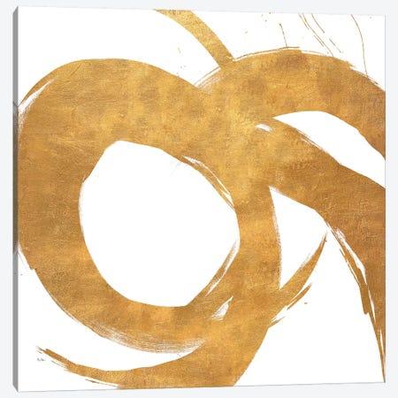 Gold Circular Strokes II Canvas Print #MMS3} by Megan Morris Art Print