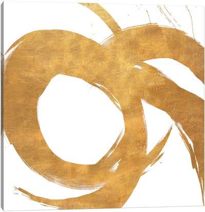 Gold Circular Strokes II Canvas Art Print