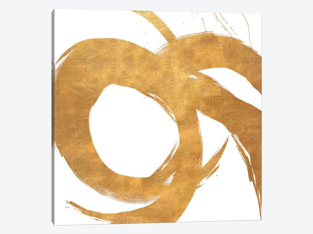 Gold Circular Strokes II by Megan Morris 1-piece Art Print