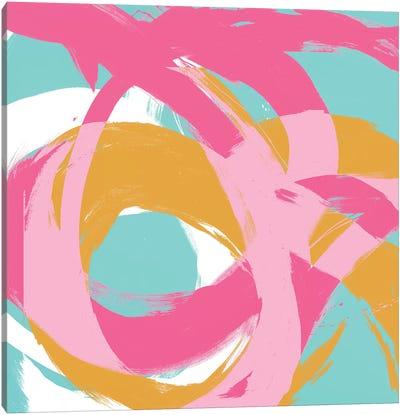 Pink Circular Strokes I Canvas Art Print