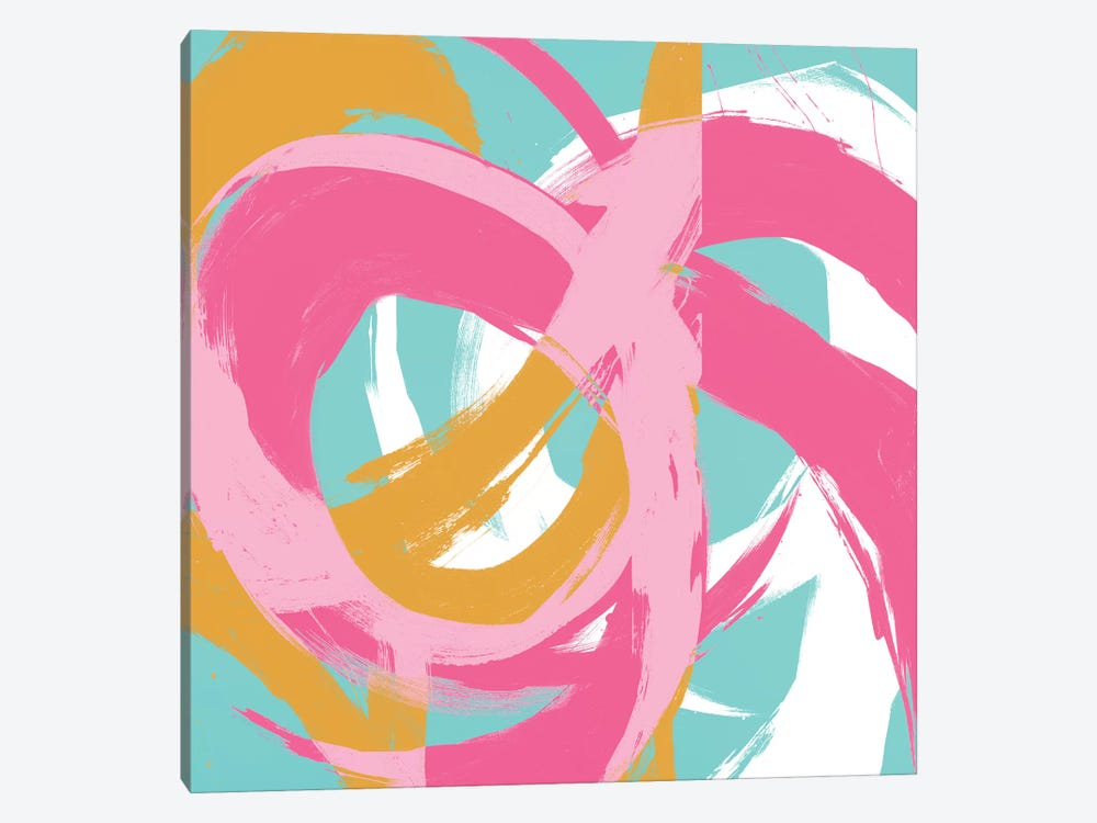 Pink Circular Strokes II by Megan Morris 1-piece Art Print