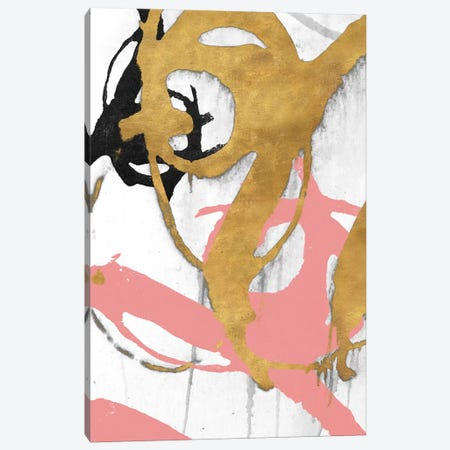 Rose Gold Strokes I Canvas Print #MMS6} by Megan Morris Canvas Art