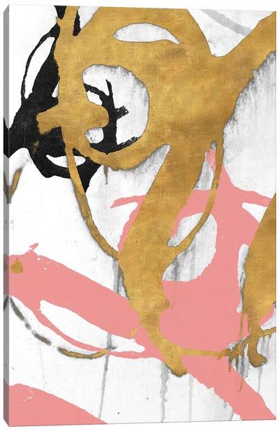 Rose Gold Strokes I Canvas Art Print
