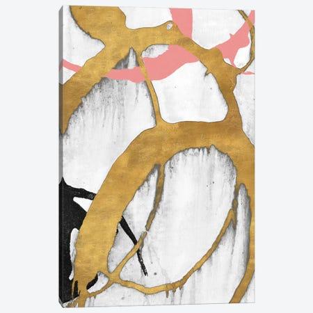 Rose Gold Strokes II Canvas Print #MMS7} by Megan Morris Canvas Artwork