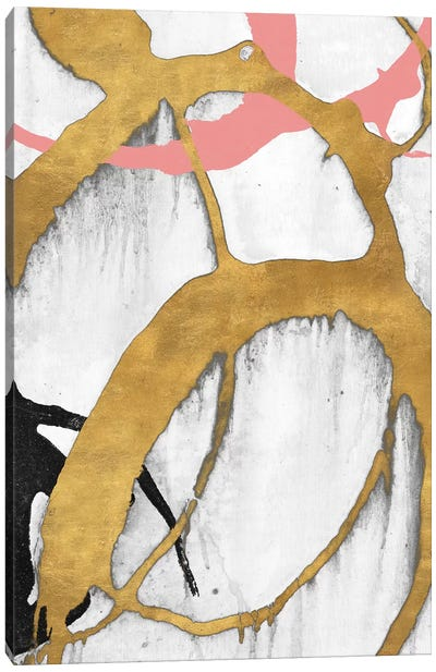 Rose Gold Strokes II Canvas Art Print