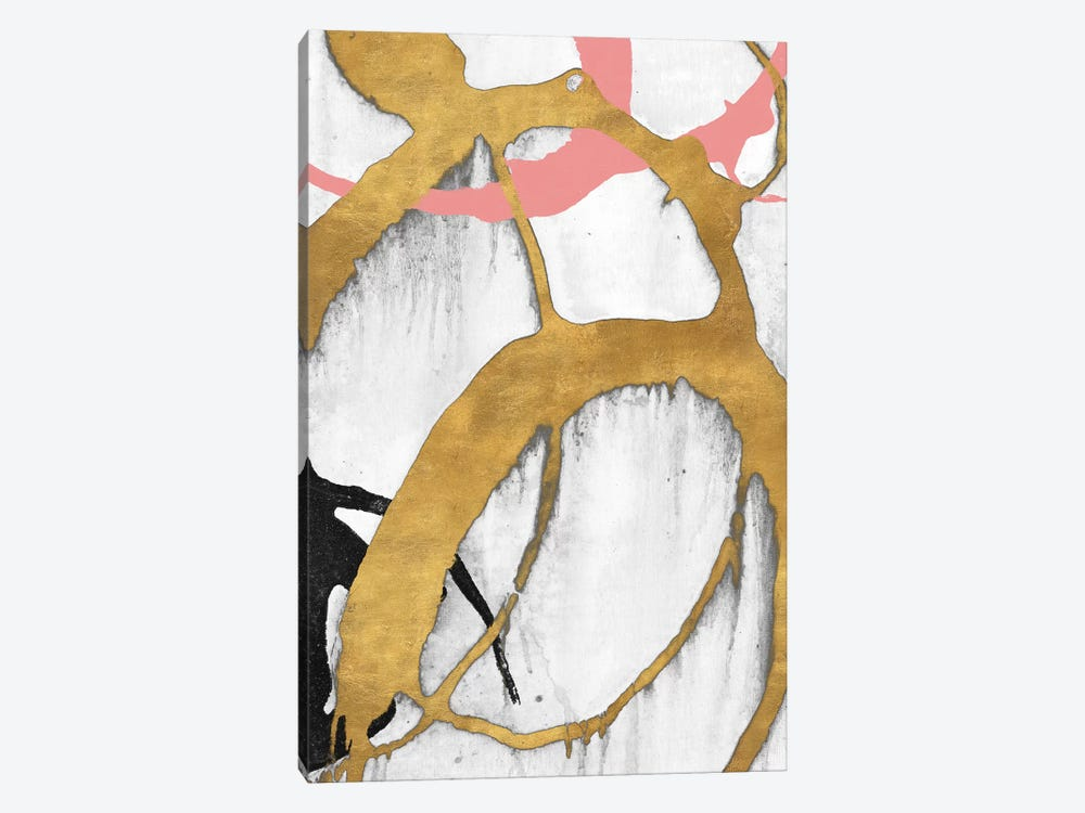 Rose Gold Strokes II by Megan Morris 1-piece Canvas Print