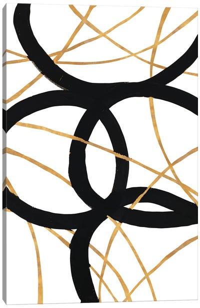 Black and Gold Stroke I Canvas Art Print