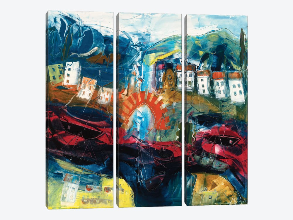 Abstract Landscape I by Max Müller 3-piece Canvas Art Print