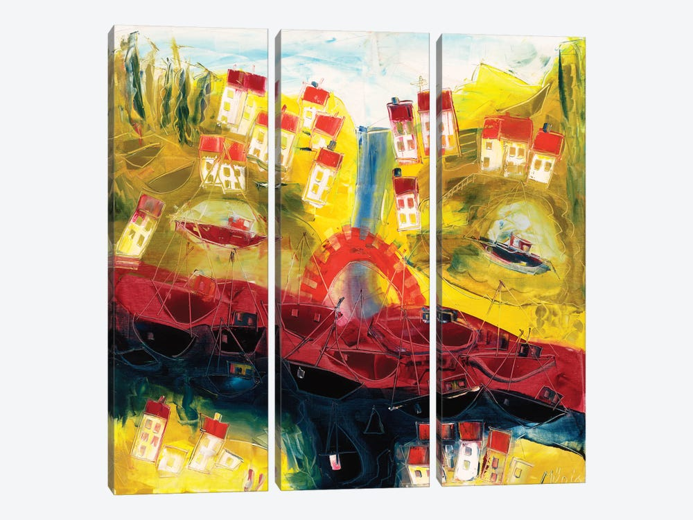 Abstract Landscape II by Max Müller 3-piece Canvas Artwork