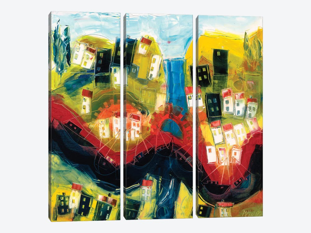 Abstract Landscape IV by Max Müller 3-piece Canvas Wall Art
