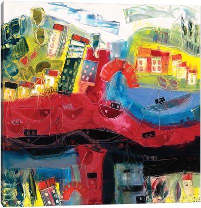 Abstract Landscape V Canvas Art Print