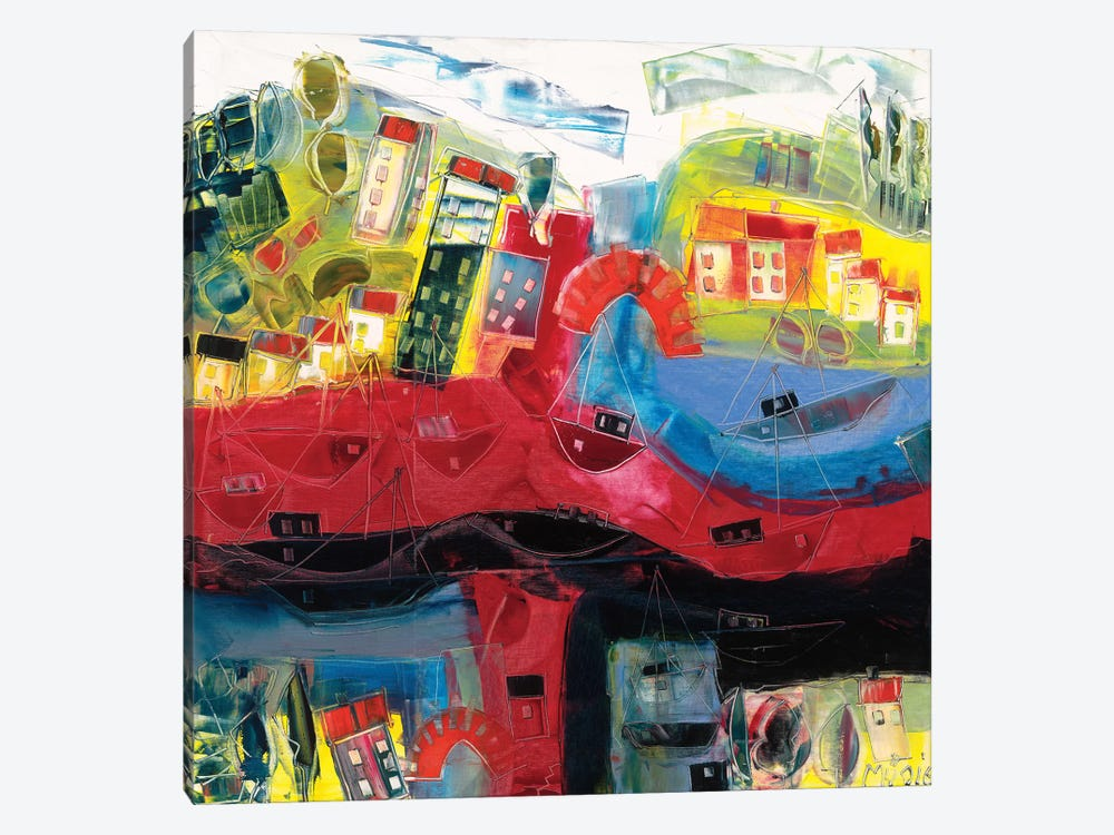 Abstract Landscape V by Max Müller 1-piece Art Print