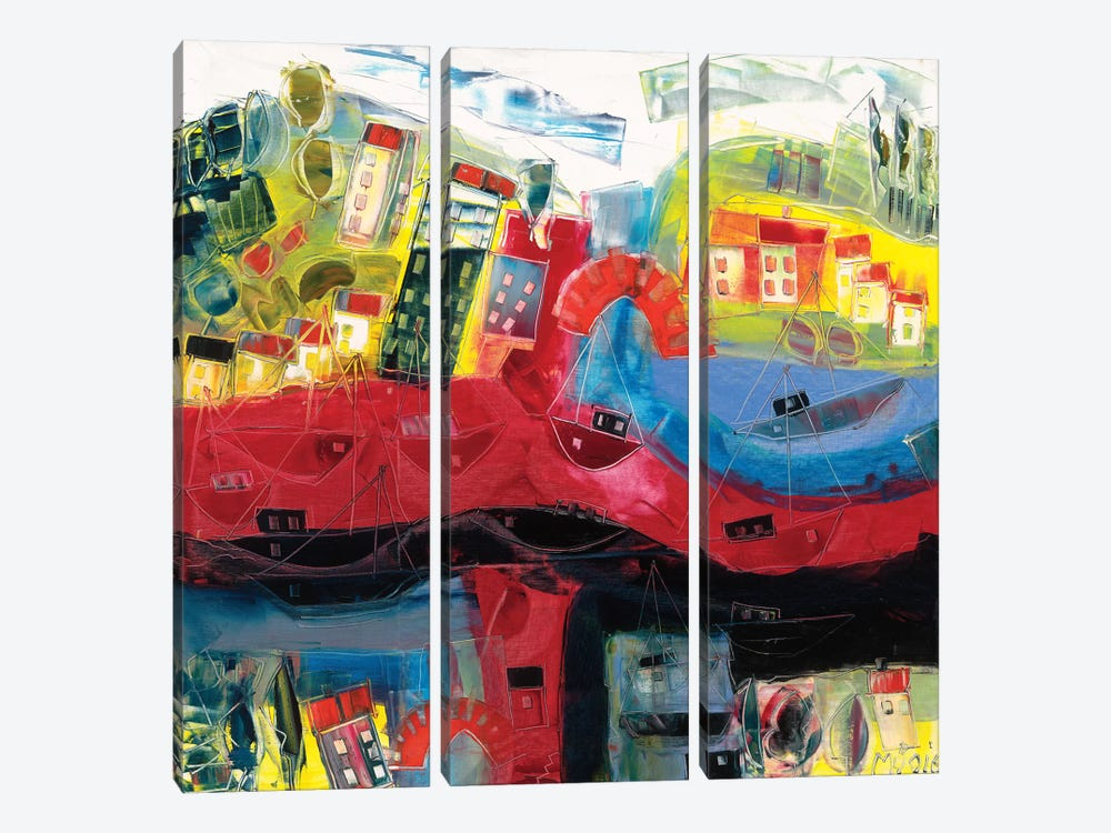 Abstract Landscape V by Max Müller 3-piece Canvas Art Print