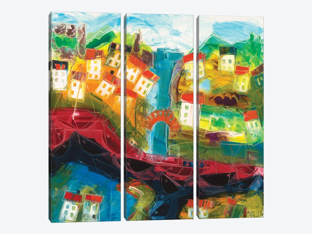 Abstract Landscape VI by Max Müller 3-piece Canvas Artwork