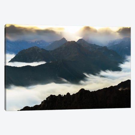 Flying Over The Mountains Canvas Print #MMV60} by Mauro La Malva Art Print