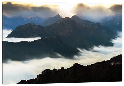 Flying Over The Mountains Canvas Art Print