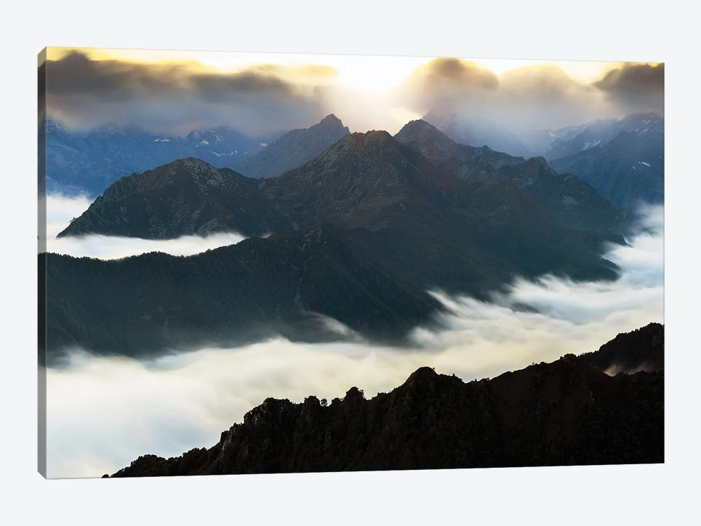Flying Over The Mountains by Mauro La Malva 1-piece Canvas Print