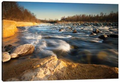 Golden River Canvas Art Print