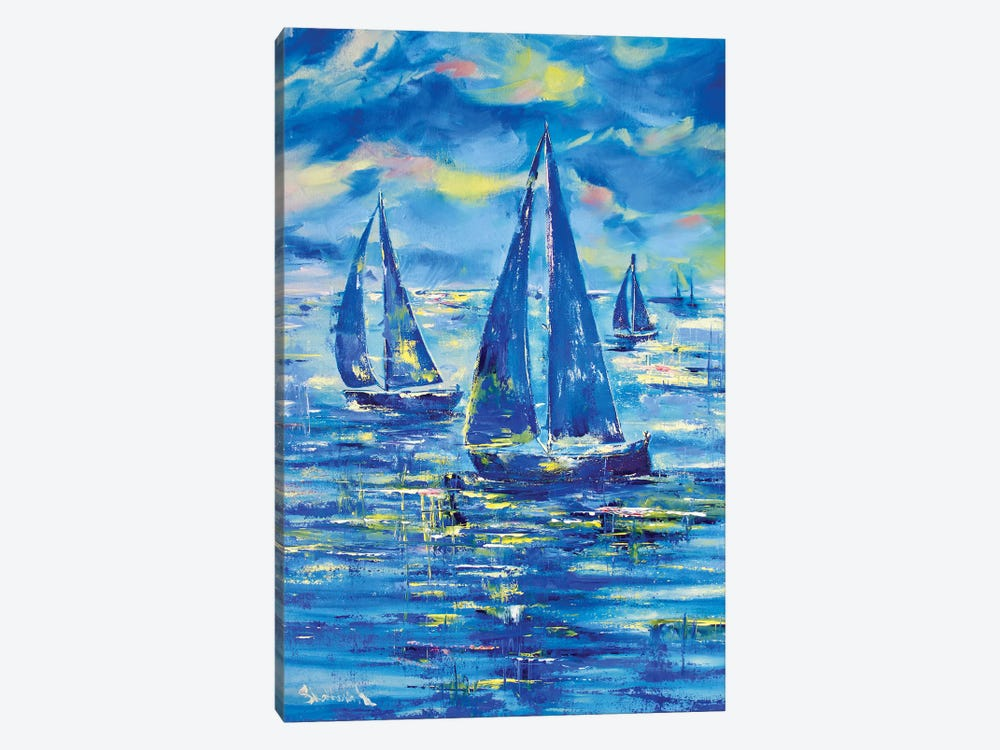 Night Regatta by MARIANNA SHAKHOVA 1-piece Art Print