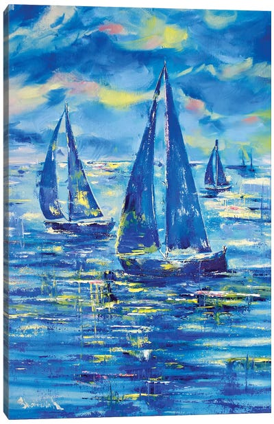 Night Regatta Canvas Art Print