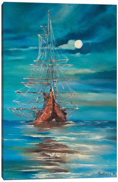 Sea By Night Canvas Art Print