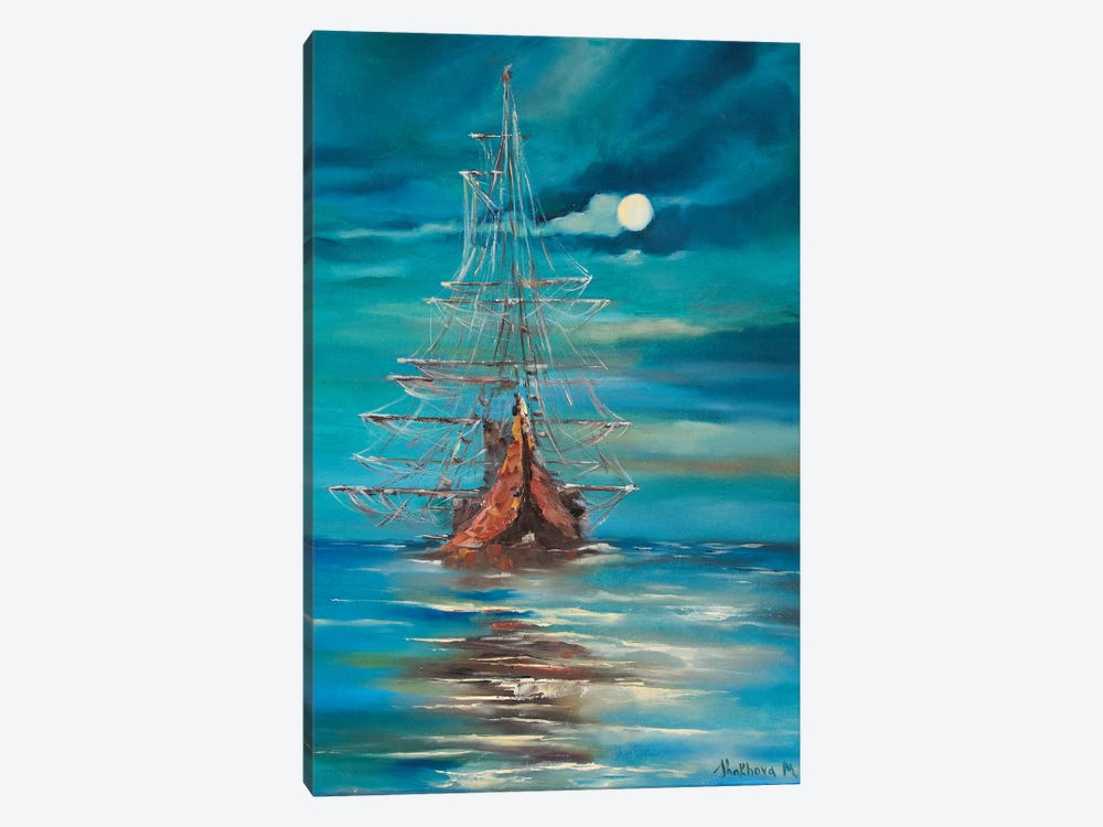 Sea By Night by Marianna Shakhova 1-piece Canvas Print