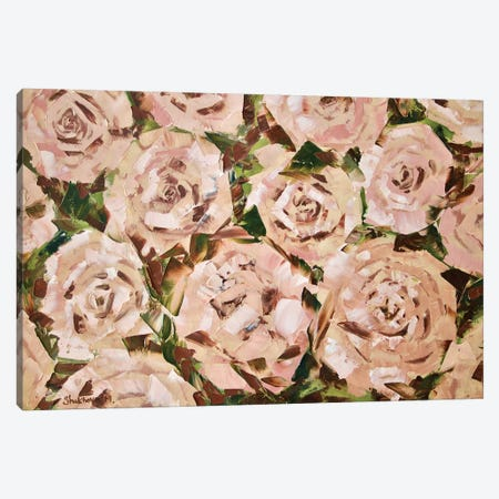 Tea Roses 3-Piece Canvas #MNA23} by Marianna Shakhova Canvas Art