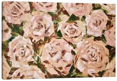 Tea Roses Canvas Art Print