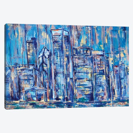 Chicago Canvas Print #MNA3} by Marianna Shakhova Canvas Print