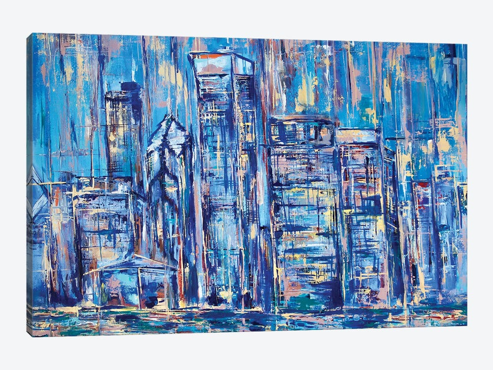 Chicago by Marianna Shakhova 1-piece Canvas Art Print