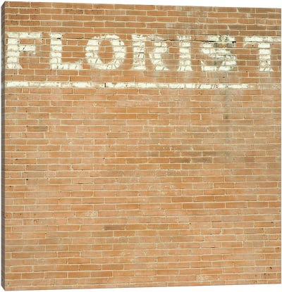 Florist On Brick Canvas Art Print