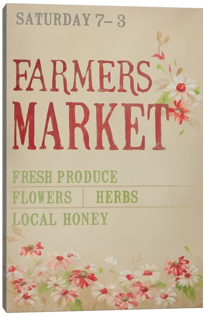 Grey Farmer's Market Canvas Art Print
