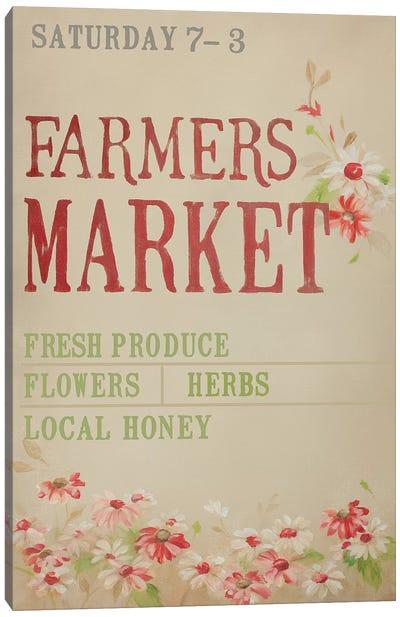 Grey Farmer's Market Canvas Art Print