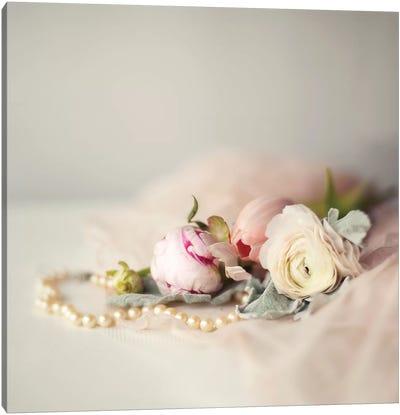 Pearls & Flowers Canvas Art Print