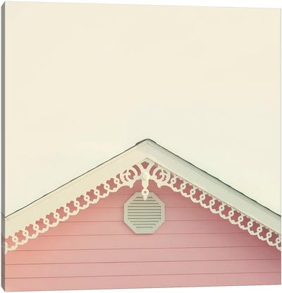 Pink Gable Canvas Art Print